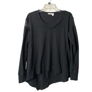 Wilt Asymmetrical Mesh Long Sleeve Cotton Shirt XS